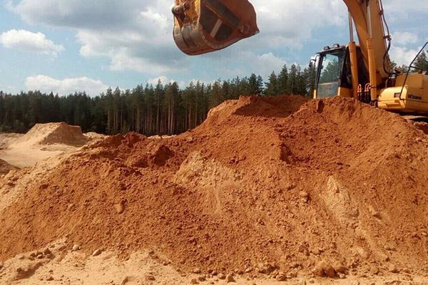 Купить песок карьерный желтяк в Борисове